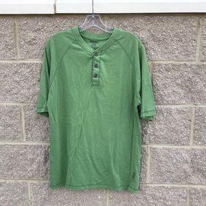 Wolverine Green Button SS Mens Hensley Tee Shirt M